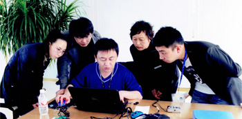 Technology exchange with Korean customer